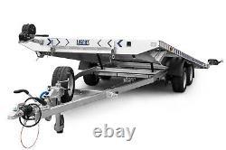 Remorque De Voiture Flatbed Twin Axle 16,5 Ft X 6,7 Ft 3500 KG Avec Led Lights