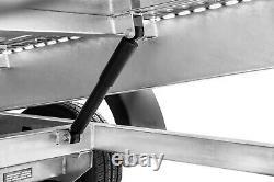 Remorque De Voiture Flatbed Twin Axle 4,5m X 2,01m 2700 KG Avec Led Lights