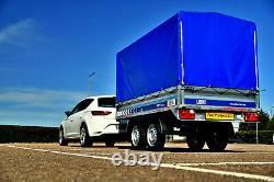 Remorque De Voiture Nouvelle Twin Axle 8,7ft X 4,4ft 750 KG Avec Couverture En Toile H 140 CM