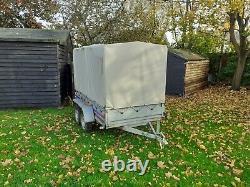 Remorque De Voiture Twin Essieu Toile Couverture H X 263cm W X 125cml Non Freinant 750kg