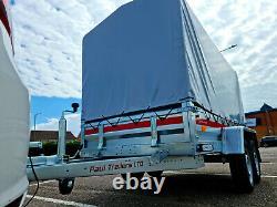 Remorque Double 8,7ft X 4,1ft Avec Couverture En Toile H 110cm