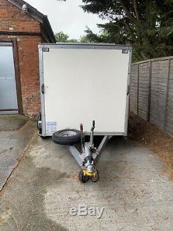 Remorque Double Essieu Go Kart Box 8 X 5 X 5, Volet Roulant, Condition Fantastique