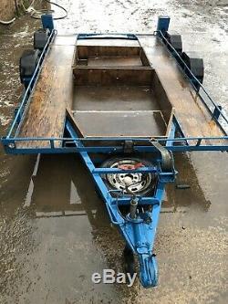 Remorque Double Essieu Transporteur De Voitures Autograss Mini Race Tire Rack Motorsport