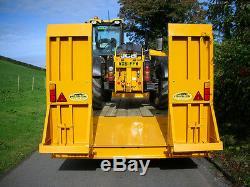 Remorque Jumelle D'essieu De Remorquage Rapide De Transport D'agriculteur D'agriculteur De Tracteur D'agriculture Basse