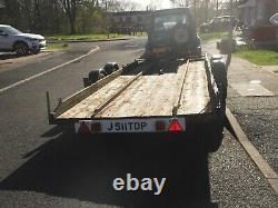 Remorque Jumelle De Transporteur De Voiture D'essieu 21ft Long Lit 6ft Large 76 Roue Large À La Roue