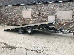Remorque Lit Pliant Ifor Williams 16ft / Transporteur De Voiture / Double Essieu / Remorque Fatbed