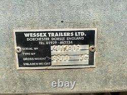 Remorque Plate À Essieu Jumeau 3.5t Remorques Wessex