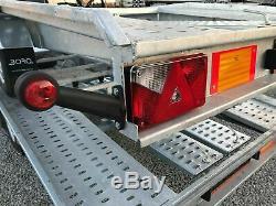 Remorque Porte-voiture À Deux Essieux 4.5mx 2.1m 3000 KG DMC