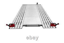Remorque Transporteur De Voiture 2700kg Twin Axle Flatbed 15 Ft X 6,7 Ft Avec Led Light