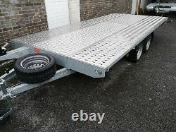 Remorque Transporteur De Voiture Essieu Jumeau 4,50x2,10 2700kg