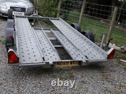 Remorque Transporteur De Voiture Twin Axle Low Miles 1 Propriétaire Tows Amazing 1600kg