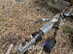 Remorque Twin Axle Platbed