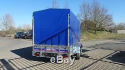 Remorque Voiture 10ftx5ft Twin Axle Al-ko Non Freinées Box Trailer Haute Couverture De 5,9ft