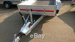 Remorque Voiture 300cm X 150cm 2700kg Panneau Latéral En Aluminium À Double Essieu Frein