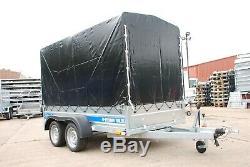 Remorque Voiture 9 X 4 Bi-essieu Al-ko Couverture De Boîte En Toile Remorque 750 KG Tout Neuf