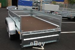 Remorque Voiture Double Essieu 8'8x4'3 Benne Basculante 750kg Roue De Secours Neptun