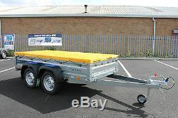 Remorque Voiture Double Essieu Solidus 8'7x4'1 750kg + Capot Plat