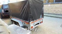 Remorque Voiture Double Essieux Freinés Remorque 8,7ft X 4,1ft 1500 KG Ptac Canopy H 110 CM