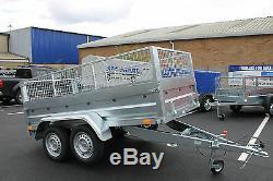 Remorque Voiture Double Farmtech Cage Maille Cage 8.7x4.2ft Benne 263cm X 129cm