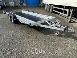 Remorque Woodford Tiltbed Car Transporter Twin Essieu