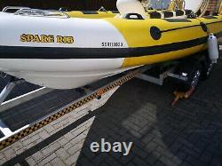 Rib Boat 5.95m Sur Une Remorque À Essieu Jumeau