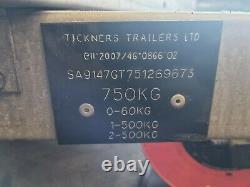 Tickners Boîte Double Essieu Aller Kart Remorque
