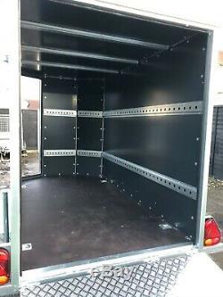 Tickners Gt956 Box Van Double Essieu Rampe Porte En Forme Avant Remorque = 9ft X 5ft X 6ft