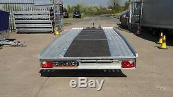 Transporter Remorque Voiture 4,5m X 2m Double Essieu 2700 KG Al-ko Suspension