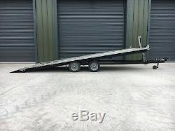 Transporter Remorque Voiture / Twin Axle Lit Tilt, 18x7.6 Ft, Comme Brian James, Winch