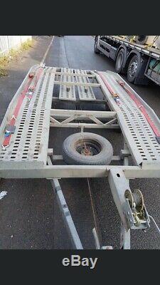 Transporter Voiture Récupération Remorque Double Essieu 2700 KG No Vat Situé À Birmingham