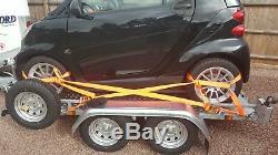 Transporteur De Voiture / À Plat / Moto Bespoke Lit De Remorque À Deux Essieux Size Size 250 À 400 CM