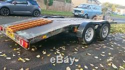 Transporteur De Voitures, Beavertail, Flore, Récupération Remorque. Double Essieu 4 Roues 3500 KG