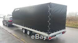 Transporteur De Voitures Remorque Caisse De 4,5m X 2m X 2,2m 2700kg À Double Essieu Freiné