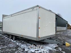 Twin Axle Box Trailer Wirh Large Fold Down Ramp
