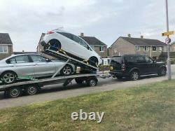 Twin (double) Remorque Transporteur De Voiture Tripple Axle @swap Remorque Boîte Et £ @