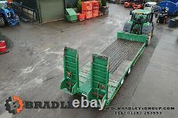 Utilisé Bradleys Low Loader Twin Commerical Essieux 25ton Carry Plant Tractor Trailer