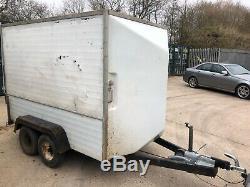 Utilisé Double Axle Box Remorque, Aluminium, (8' X 4' )