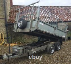 Utilisé Graham Edwards 10ft X 6ft Twin Axle 2600kg Tipping Trailer C/w Mesh +vat