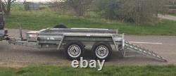 Utilisé Graham Edwards 8ft X 4ft Twin Axle 2600kg Plant Trailer No Vat
