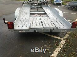 Utilisé / Secondhand Lider Tilt Voiture Double Essieu 2600 KG Remorque Transporter Lit