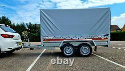 Véhicule D'axle Douce 8'7 X 4'1 750 KG Avec Couverture Canvas H 110 CM