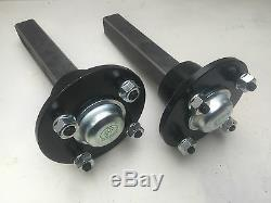 Vtt Double Remorque Kit Inc Roues, Moyeux & Fusées (pcd 4/4)