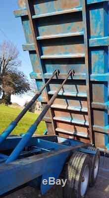 Warwick 10 Tonnes De Céréales Fourragères Remorque Double Essieu Benne Agricole Et Remorques