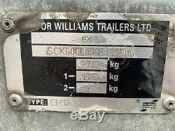 Williams Double Axle Trailer Lm105g 2700 Kg. Légèrement Utilisé, Tout Électrique De Travail