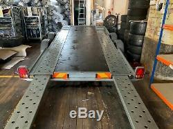 Woodford Charge De Remorque 1800kg De Transporteur De Voiture A Deux Essieux A Corps Large