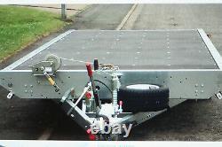 Woodford Lit Plat Double Essieu Inclinaison Remorque 3500 Brut (2700payload) Nouvelle Liste